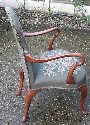 Superb Victorian Walnut Tapestry Armchair Very Clean Delivery Available 6