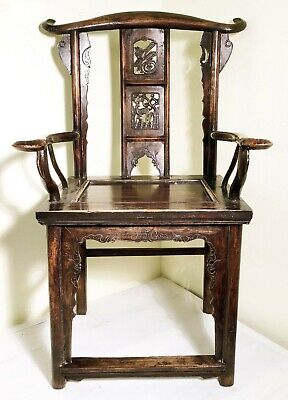 Antique Chinese Arm Chairs (3014)(Pair), High Back, Circa 1800-1849 8
