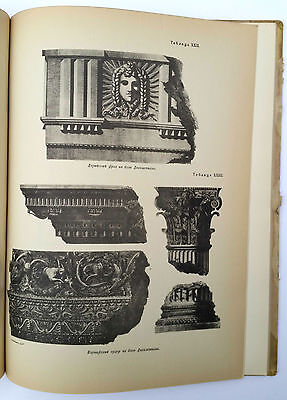 """1939 Charles Cameron Architect """"TERMS of ROMANS"""" Illustrated Book Russian Edit. 8"""