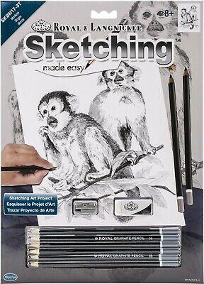 Animals Sketching Made Easy Drawing Kits & Graphite Pencils Set 2
