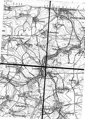 Generalstabskarte von Sachsen, Section Lommatzsch 1907