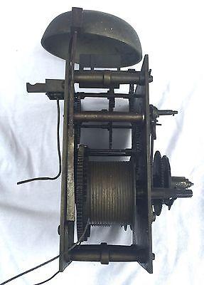 Oak & Mahogany 8 Day Inlaid And Cross Banded Long Case Grandfather Clock 11