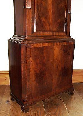 ~ Antique Mahogany Halifax Moon Longcase Grandfather Clock by Butler BOLTON 9
