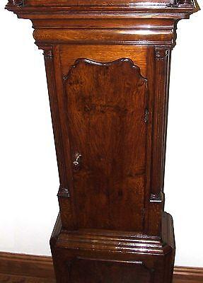 Antique Brass Dial Burr / Pollard Oak Longcase Grandfather Clock MOSS FRODSHAM 6