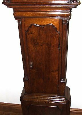 ~ Antique Brass Dial Burr / Pollard Oak Longcase Grandfather Clock MOSS FRODSHAM 6