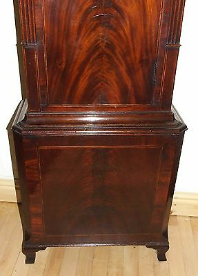 Antique Inlaid Mahogany Moon Phase Longcase Grandfather Clock FURNIVAL OLDHAM 10