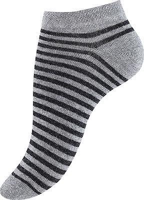 8-12 Paar Damen Mädchen Sneaker Socken Freizeitsocken Baumwolle Punkte Streifen 4