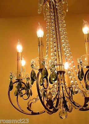 Vintage Lighting 1950 Mid Century Hollywood Regency. ONE chandelier. TWO sconces 4