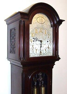 Antique Musical Chiming Mahogany Longcase Grandfather Clock LISTER & SONS 3