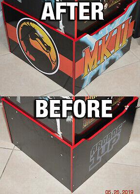 Arcade1up Cabinet Riser Graphics - Mortal Kombat 2 II Graphic Sticker Decal Set 2