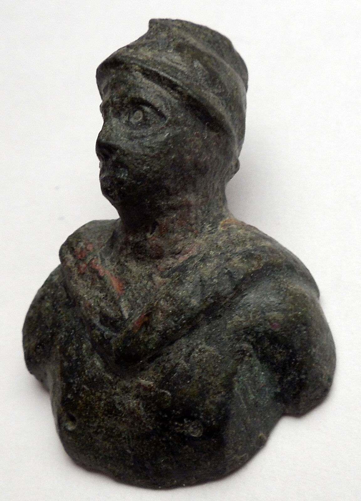 Ancient Roman MARS BUST Miniature Amulet of Protection Figure of Soldier i44981 3