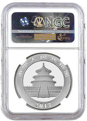 2017 China Silver Panda NGC MS70 FDI Exclusive 1 of First 30k FIRST Day of Issue 2