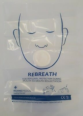 Rebreath Foil Wrapped CPR Mouth To Mouth Face Shields with Filter Paper 5