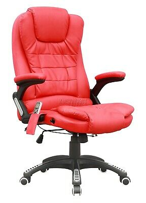 WestWood Heated Massage Office Chair – Leather Gaming Recliner Swivel Computer 9