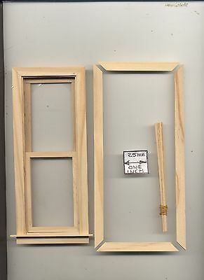 Window Tall /& Slim dollhouse wooden  #5031 1pc 1//12 scale Houseworks Working