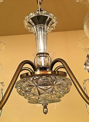 Vintage Lighting circa 1950 Colonial chandelier 4