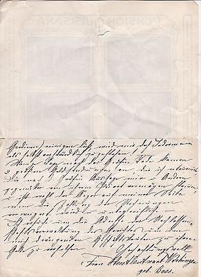 Wunderschöner Schmuckbrief aus München 1915 Pension Quisisana von der Goltz rar
