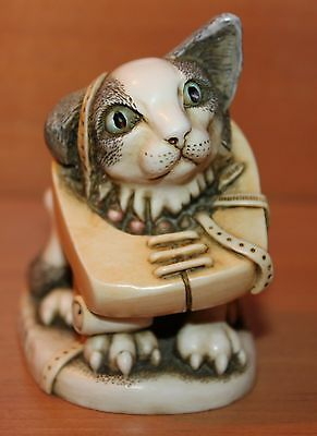 CROOZE CAT Harmony Kingdom XXXTJCC Solid Figurine Two Signatures Retired