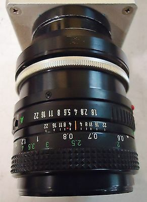 NED CAMERA W/CANONON LENS TYPE Y1024CHH FD 50mm 1:1.8 MADE IN JAPAN S/N 112615 5