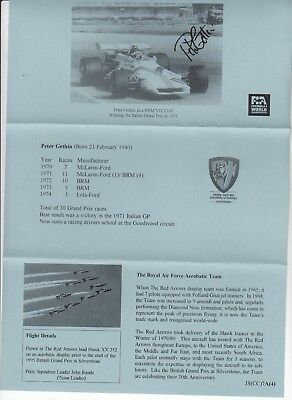 JS(CC)7ad Isle of Man British Grand Prix Silverstone Signed  Peter Gethin 30 Gra 4