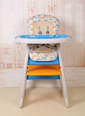FoxHunter Baby Highchair Infant High Feeding Seat 3in1 Toddler Table Chair New 11