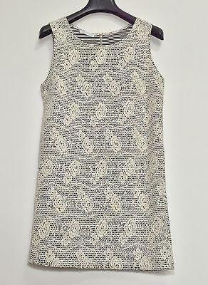 Promod abito vestito corto fiori rose dress kleid manica corta tg S hot T802 4