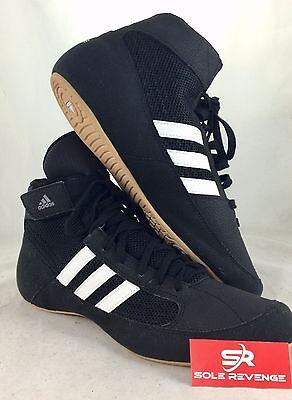 b8ba520bf1a ... New ADIDAS HVC 2 Wrestling Shoes MMA Boxing Black White Gum AQ3325 4