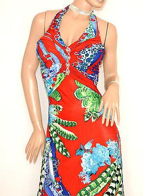 24f4f96bbbf1 ... ABITO LUNGO ROSSO BLU VERDE vestito donna strass elegante cerimonia  E170 3