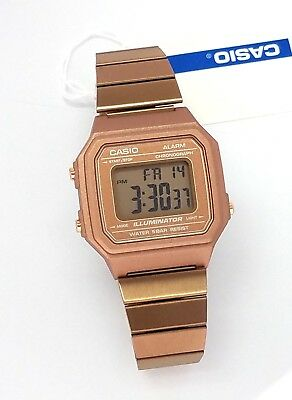 CASIO Digital  Alarm Rose Gold Stainless steel B650WC-5  B650 New B650WC 3