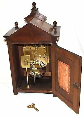 # Antique Oak & Brass TING TANG Bracket Mantel Clock : CLEANED & SERVICED (a60) 11