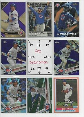 Chicago Cubs ** SERIAL #'d Rookies Autos Jerseys ** ALL CARDS ARE GOOD CARDS* 3