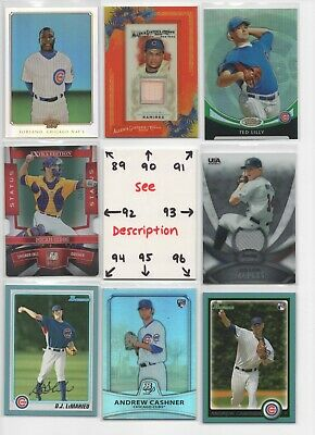 Chicago Cubs ** SERIAL #'d Rookies Autos Jerseys ** ALL CARDS ARE GOOD CARDS* 12