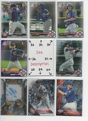 Chicago Cubs ** SERIAL #'d Rookies Autos Jerseys ** ALL CARDS ARE GOOD CARDS* 5