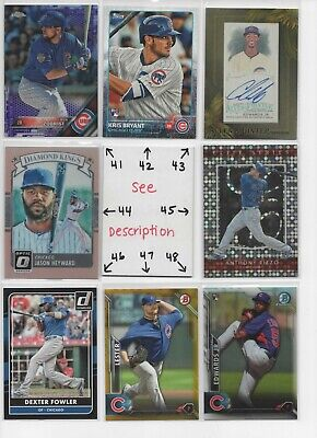 Chicago Cubs ** SERIAL #'d Rookies Autos Jerseys ** ALL CARDS ARE GOOD CARDS* 6