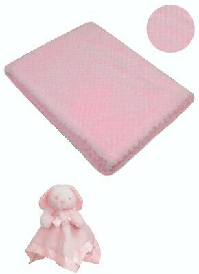 Personalised  embroidered BABY WAFFLE BLANKET gift set 3 color SUPER SOFT bunny 2