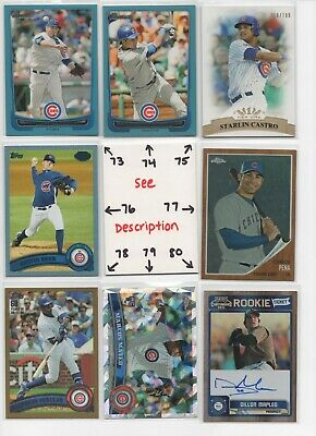 Chicago Cubs ** SERIAL #'d Rookies Autos Jerseys ** ALL CARDS ARE GOOD CARDS* 10