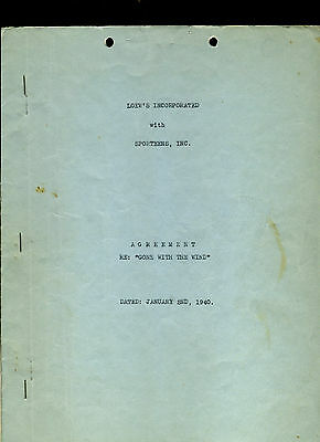 FANTASTIC Gone With The Wind (MGM, 1940) signed contract RARE autograph 1936 2