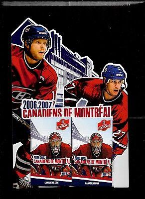 Montreal Canadiens Molson Pocket Schedule & Display Rack Nhl Hockey See List 5