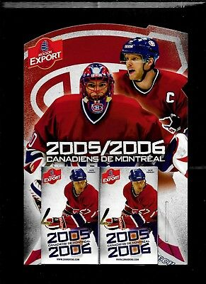 Montreal Canadiens Molson Pocket Schedule & Display Rack Nhl Hockey See List 4