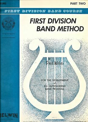 Drums Belwin Mills First Division Band Method Part One and Two Music Book 4