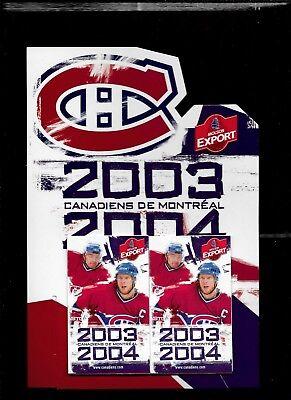 Montreal Canadiens Molson Pocket Schedule & Display Rack Nhl Hockey See List 3