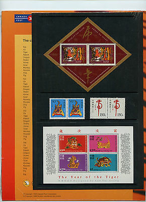 Weeda Canada Thematic Collection #78, 1998 Year of the Tiger folder CV $15 2
