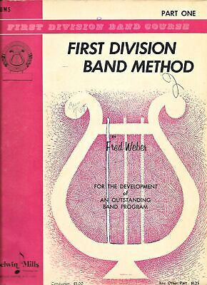 Drums Belwin Mills First Division Band Method Part One and Two Music Book 2