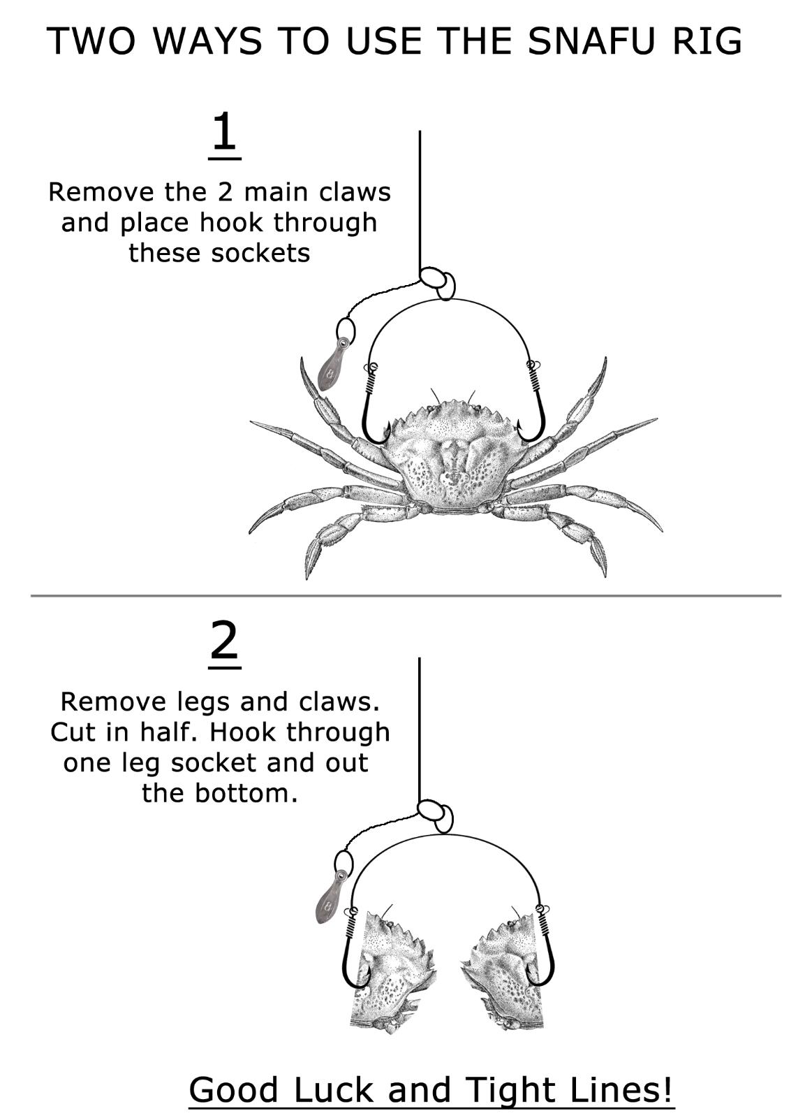 2 Blackfish tautogue Noir Pêche Rigs TIDE RITE R452 Octopus piscine gagnant 1 Crochet Rig