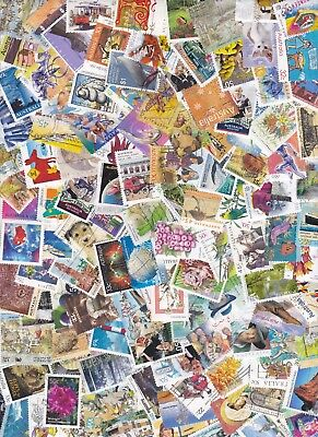 100 Australia Stamps All Different Used Bulk Collection Lot Off Paper Free Post 7