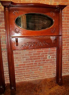 Rare Pair Of Victorian Carved Mantles With Mirrored Galleries 3