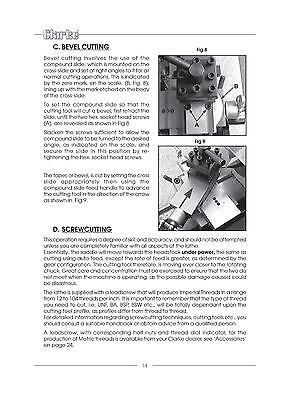Clarke CL300M Lathe Operation /& Maintenance Manual *1485