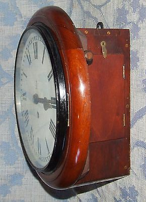AUTHENTIC Mahogany GPO Chain Fusee Wall Clock with 10 INCH Dial 7