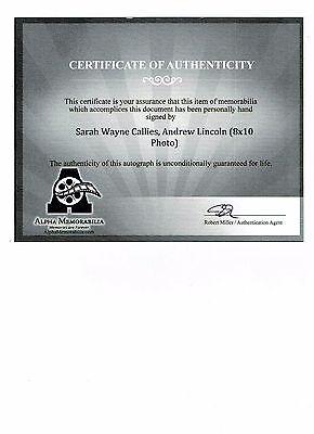 The Walking Dead Autographed 8 x 10 Photo Andrew Lincoln Sarah Wayne Callies COA