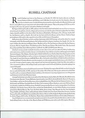 Original RARE Russell Chatham print Missouri Headwaters May PERFECT 12